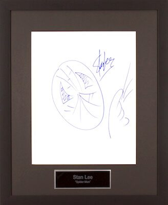 Charity Auction Items - Autographed 11×14 Celebrity Sketches - Spiderman Sketch