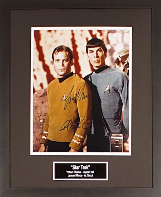 Charity Auction Items - Autographed 16×20 Movie Posters - Star Trek Shatner Nimoy 11x14
