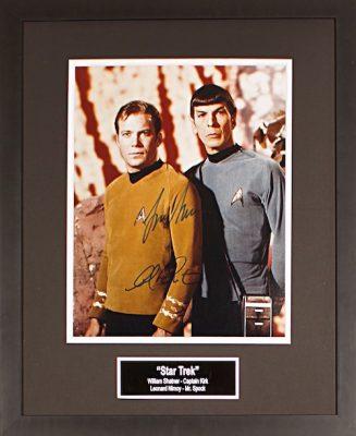 Star Trek Shatner Nimoy 11x14