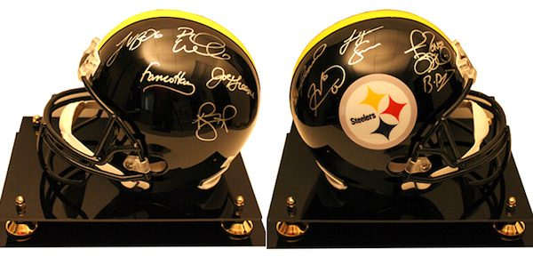 Charity Auction Items - Autographed NFL Team Legends Helmets -Steelers Legends