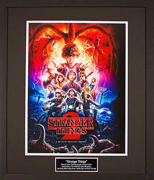Charity Auction Items - Autographed 16×20 Movie Posters - Stranger Things