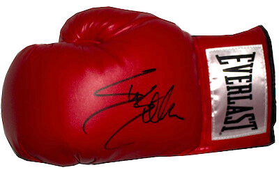 Charity Auction Items - Autographed Championship Boxing Gloves - Sylvester Stallone Glove