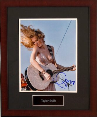 Charity Auction Items - Autographed Musician Photos - Taylor Swift