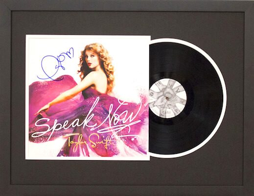 Charity Auction Items - Autographed Record Albums - Taylor Swift