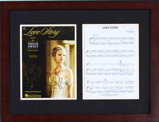 Charity Auction Items - Autographed Sheet Music - Taylor Swift