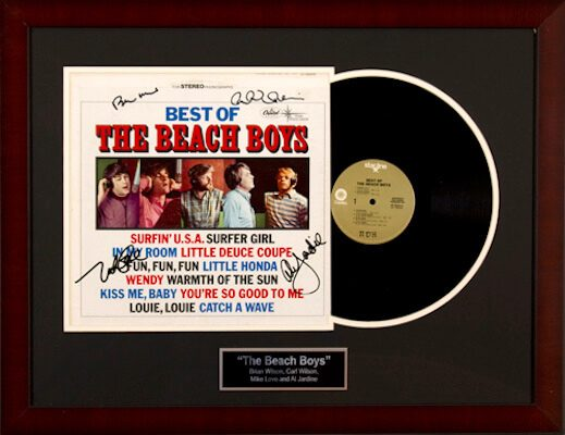 Charity Auction Items - Autographed Record Albums - The Beach Boys