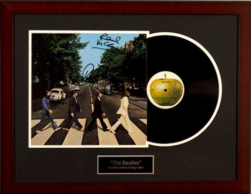 Charity Auction Items - Autographed Record Albums - The Beatles