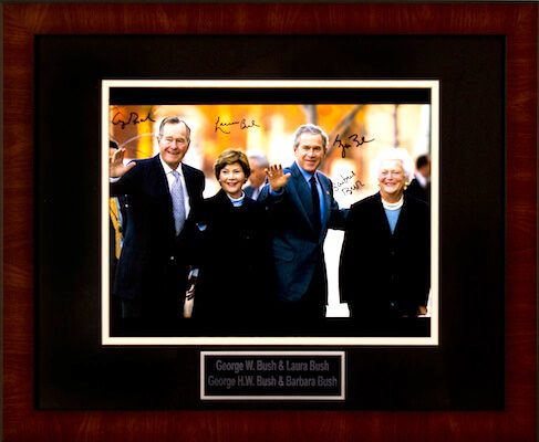 Charity Auction Items - Autographed Presidential Photos - The Bush Family Presidents Photo
