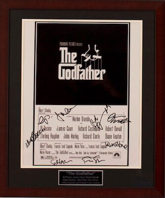 Charity Auction Items - Autographed 16×20 Movie Posters - The Godfather