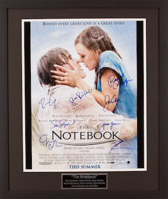 Charity Auction Items - Autographed 16×20 Movie Posters - The Notebook