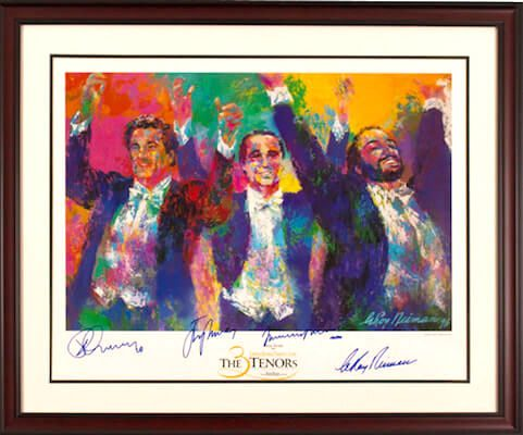 Charity Auction Items - Autographed Musician Photos - The Three Tenors Lithograph