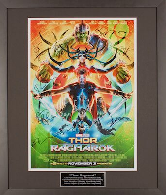 Charity Auction Items - Autographed 16×20 Movie Posters - Thor