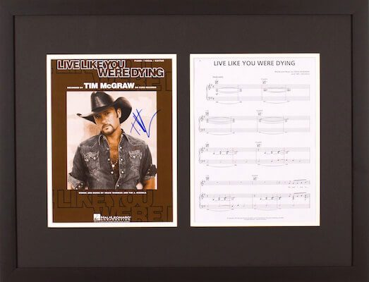 Charity Auction Items - Autographed Sheet Music - Tim McGraw