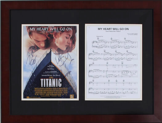 Charity Auction Items - Autographed Sheet Music - Titanic