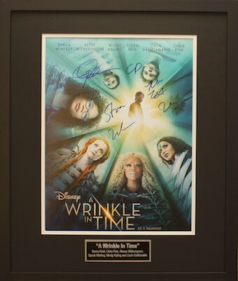 Charity Auction Items - Autographed 16×20 Movie Posters - WINKLE IN TIME