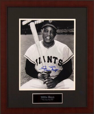 Charity Auction Items - Autographed Sports Memorabilia -Willie Mays 11x14 Photo