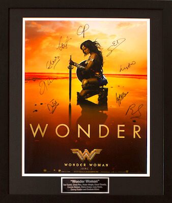 Charity Auction Items - Autographed 16×20 Movie Posters - Wonder Woman