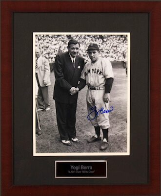 Charity Auction Items - Autographed Sports Memorabilia - Yogi Berra 11x14 Photo