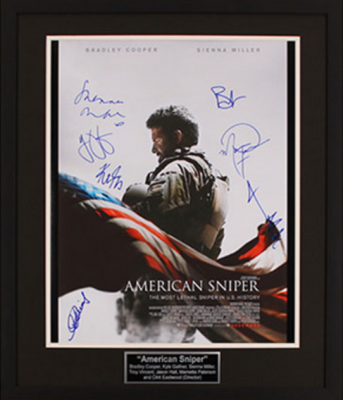 Charity Auction Items - Autographed 16×20 Movie Posters - American Sniper