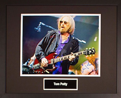 Charity Auction Items - Autographed Musician Photos - om Petty