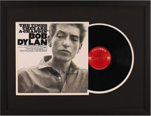 Charity Auction Items - Autographed Record Albums - bob dylan