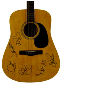 Charity Auction Items - Autographed Guitars -Female Superstars Guitar