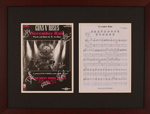 Charity Auction Items - Autographed Sheet Music