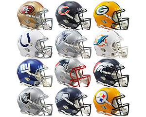 Charity Auction Items - Autographed NFL Team Legends Helmets